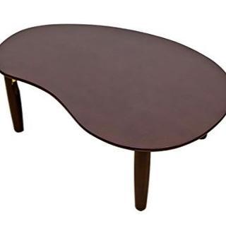 ウッディテーブルビーンズ90×60cm ブラウン(ローテーブル)
