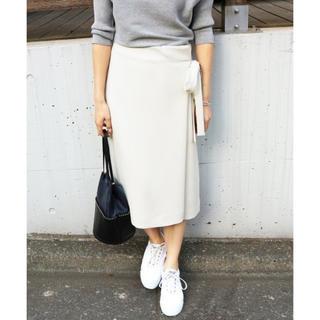 イエナ(IENA)のイエナ / サテンカラーラップスカート(ひざ丈スカート)