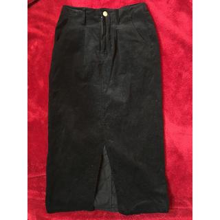 エムズエキサイト(EMSEXCITE)のコーデュロイタイトスカート(ロングスカート)