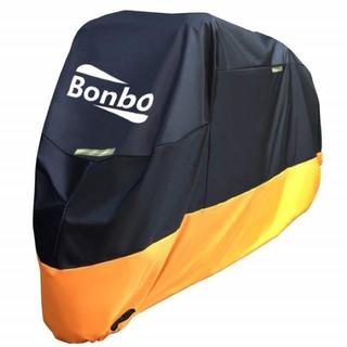 送料無料!バイクカバー 保護カバー (XXL、ブラック&オレンジ)(装備/装具)