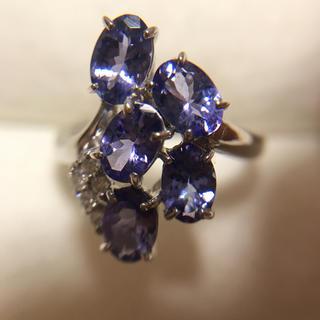 稀少石 タンザナイト ダイヤモンド 天然石 18K リング (リング(指輪))