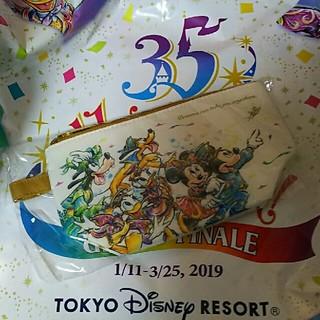 ディズニー(Disney)のディズニー 35周年 スーベニアポーチ(キャラクターグッズ)