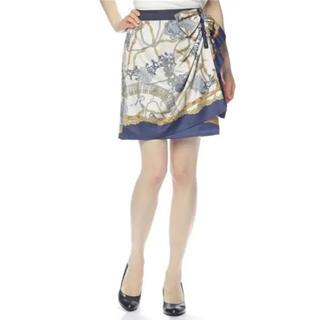 Apuweiser-riche スカーフ柄スカート