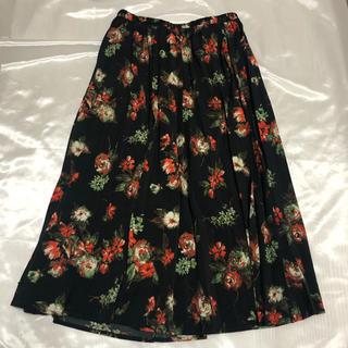 ジーユー(GU)の【320円均一】花柄スカート gu(ひざ丈スカート)