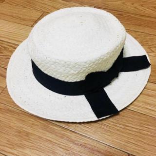 ヘザー(heather)のカンカン帽子(麦わら帽子/ストローハット)