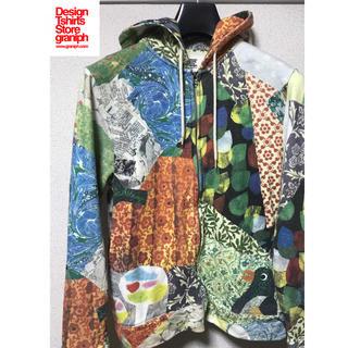 グラニフ(Design Tshirts Store graniph)のグラニフ パーカー graniph 長袖 トレーナー 総柄 L  幾何学 レオニ(パーカー)