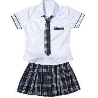 ★売れてます★ 高校生風 セーラー服 コスチューム フリーサイズ(衣装一式)