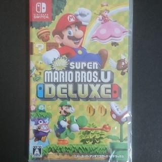 ニンテンドースイッチ(Nintendo Switch)の【新品・未開封】スーパーマリオブラザーズUデラックス(家庭用ゲームソフト)