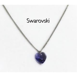 SWAROVSKI - スワロフスキーネックレス♡タンザナイトハート
