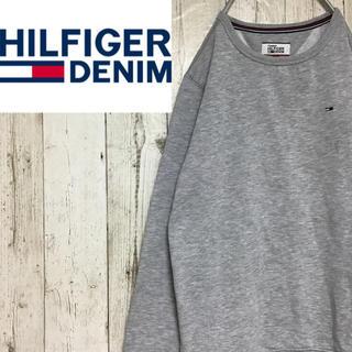 トミーヒルフィガー(TOMMY HILFIGER)の【ヒルフィガーデニム】【裏起毛】【ワンポイント】【ロゴ刺繍】【スウェット】(スウェット)