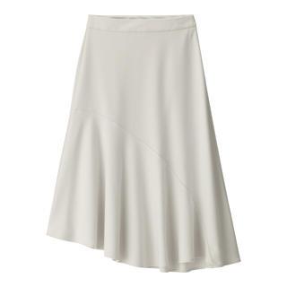 ジーユー(GU)のGU アシンメトリーミモレ丈スカート(ひざ丈スカート)