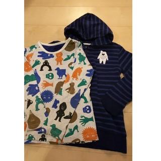 グラニフ(Design Tshirts Store graniph)のグラニフ tupera tupera 130 パーカーとロンTセット(Tシャツ/カットソー)