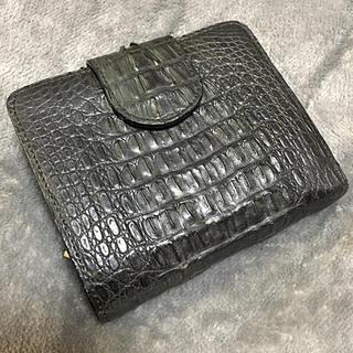 クロコダイル(Crocodile)の本物クロコダイル二つ折り財布(折り財布)