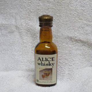 2級ウイスキー ALICE whisky white ミニボトル 50ml(ウイスキー)