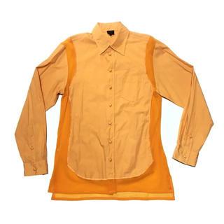 ジャンポールゴルチエ(Jean-Paul GAULTIER)のジャンポールゴルチエ  シャツ パワーネット オレンジ 再構築 48(シャツ)