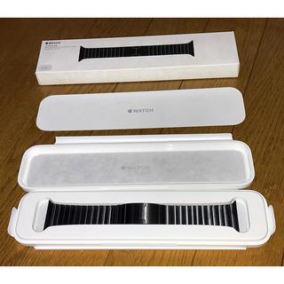 アップルウォッチ(Apple Watch)の(新品未使用)Apple Watch リンクブレスレット42mmスペースブラック(金属ベルト)