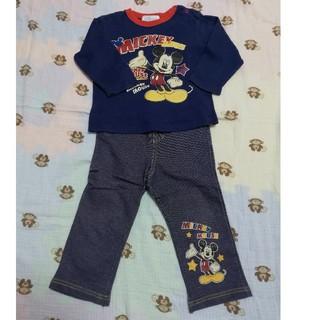 ディズニー(Disney)の<ディズニー>ミッキーマウス上下セット◆95cm◆新品未使用(Tシャツ/カットソー)