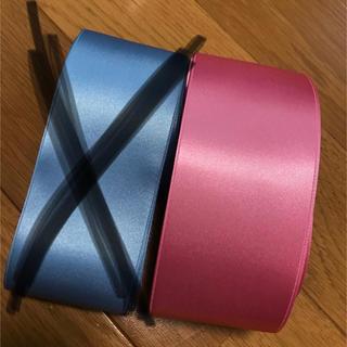 木馬リボン サッシュベルト ピンクのみ(ウェディングドレス)