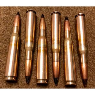 装飾ディスプレイ品 12.7mm AP弾 ダミーカート 6発 大戦ロッド 44年(モデルガン)