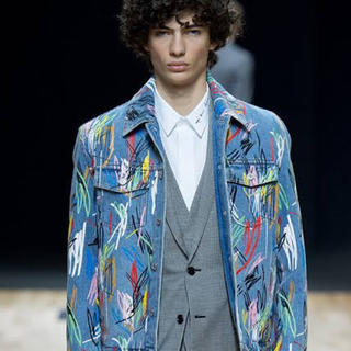 DIOR HOMME - Dior Homme 15SS ペイントデニムジャケット