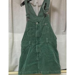 イチナナキュウダブルジー(179/WG)のコーデュロイ  ジャンパースカート オーバーオール(ひざ丈ワンピース)