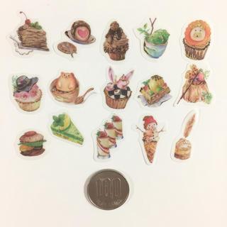 (269)洋菓子 スイーツ フレークシール 15枚 バレンタインにも♡(シール)