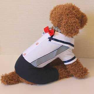 わんちゃんのお洋服*ボーイズマリンカバーオール*新品(犬)