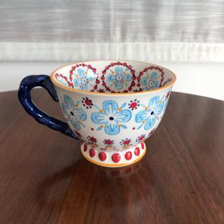 アンソロポロジー(Anthropologie)の未使用 アンソロポロジー マグカップ  花柄(グラス/カップ)