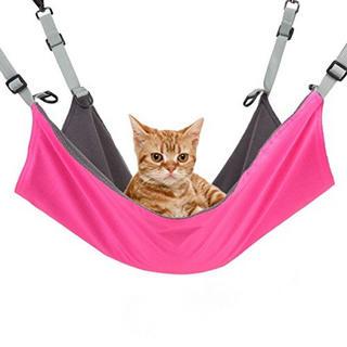 !! 猫ちゃん 特等席 フック付 ハンモック ベッド 猫柄 ペット 用品 ネコ (猫)