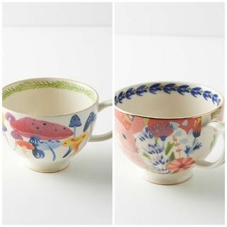 アンソロポロジー(Anthropologie)のアンソロポロジー マグカップ ティーカップ 2個 セット Astian mug(グラス/カップ)