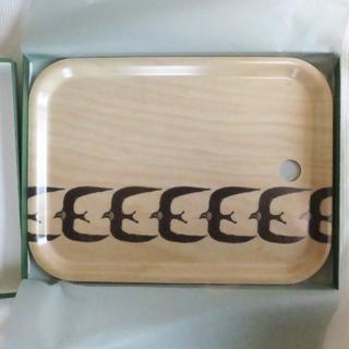 ミナペルホネン(mina perhonen)の【新品未使用】ミナペルホネン 「go!」 トレイ/トレー 小サイズ(テーブル用品)
