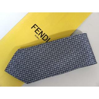 FENDI - ほぼ新品★フェンディFENDI★ロゴ総柄★高級ネクタイ★クリーニング済