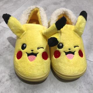 ポケモン(ポケモン)の新品 ピカチュウ もこもこ靴(スリッポン)