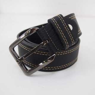 【新品】ベルト ブラック 黒 幅4cm 皮 (4)(ベルト)