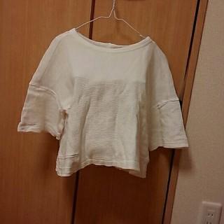 ジーユー(GU)の白のカットソー(カットソー(半袖/袖なし))