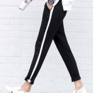 送料無料 韓国ファッション スウェット 1本ライン ストライプ ジャージ スリム(その他)