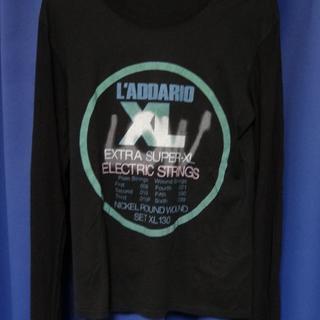 ラッドミュージシャン(LAD MUSICIAN)のラッドミュージシャン プリント 長袖 Tシャツ ロンティー ブラック 44(Tシャツ/カットソー(七分/長袖))