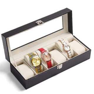 ★大人気★腕時計収納ケース 6本用 男女兼用 高級感 ブラックワニの皮(その他)