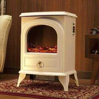 ☆おしゃれな暖炉型☆ ファンヒーター アンティークデザイン 600W 1200W(電気ヒーター)
