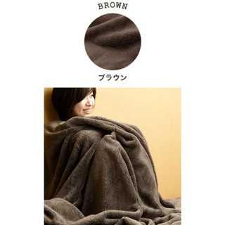 ブラウン/ダブル/ブランケット/タオル/マイクロファイバー/保温■(ペインターパンツ)
