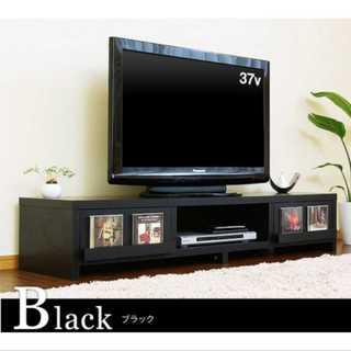 ブラック/テレビ台/ローテーブル/木製/引き出し/スクエア脚(ペインターパンツ)