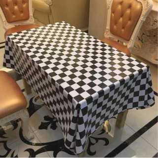 テーブルクロス ビニール 撥水 ギンガムチェック ブラック (テーブル用品)