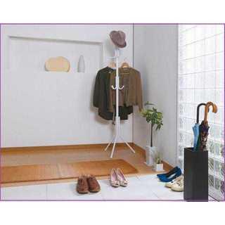 【安心強度♪】ポールハンガー 耐荷重20kg ホワイト(押し入れ収納/ハンガー)