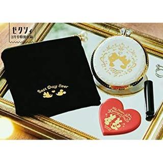 ディズニー(Disney)のゼクシィ ミッキー&ミニー 指輪型 印鑑ケース3点SET  (印鑑/スタンプ/朱肉)