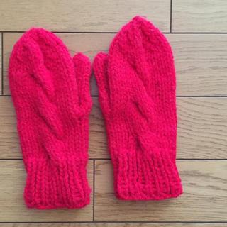 手編み  手袋(ミトン)&ルームソックス(手袋)
