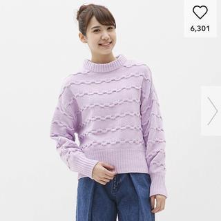ジーユー(GU)のジーユー*モールヤーンガーターセーター(ニット/セーター)