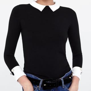 ザラ(ZARA)の新品 zara コントラストニットセーター♡(ニット/セーター)
