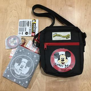 ディズニー(Disney)のしまむら ミッキー ショルダー ポーチ キーホルダー セット(ショルダーバッグ)
