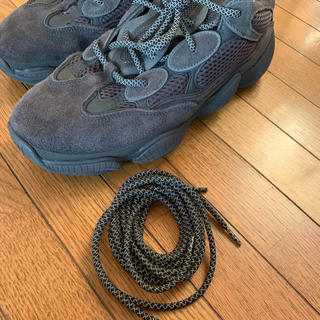 アディダス(adidas)の限定!シューレース イージー500などに!ブラック反射シューレース 新品未使用!(その他)