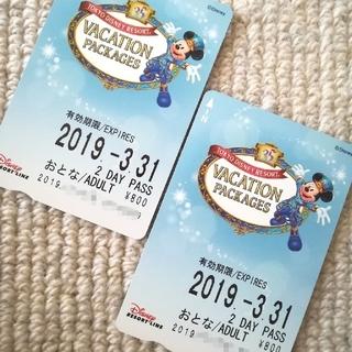 ディズニー(Disney)のディズニー リゾートライン フリーパス 2days 35周年 リゾラ バケパ  (遊園地/テーマパーク)